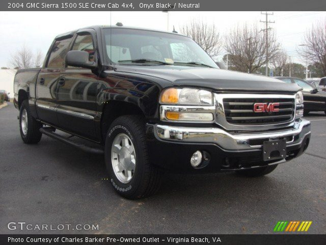 onyx black 2004 gmc sierra 1500 sle crew cab 4x4. Black Bedroom Furniture Sets. Home Design Ideas