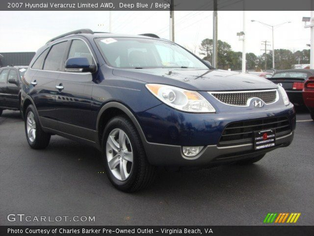 deep blue 2007 hyundai veracruz limited awd beige. Black Bedroom Furniture Sets. Home Design Ideas