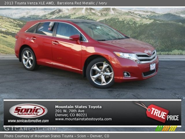 barcelona red metallic 2013 toyota venza xle awd ivory. Black Bedroom Furniture Sets. Home Design Ideas