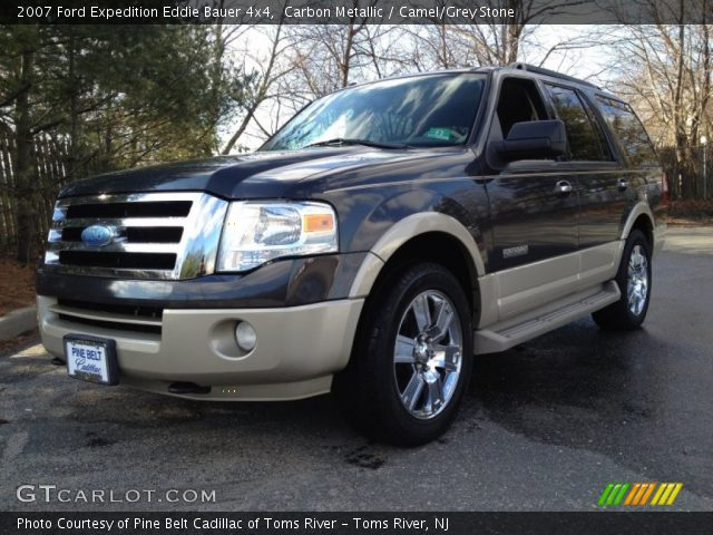 carbon metallic 2007 ford expedition eddie bauer 4x4 camel grey stone interior gtcarlot. Black Bedroom Furniture Sets. Home Design Ideas
