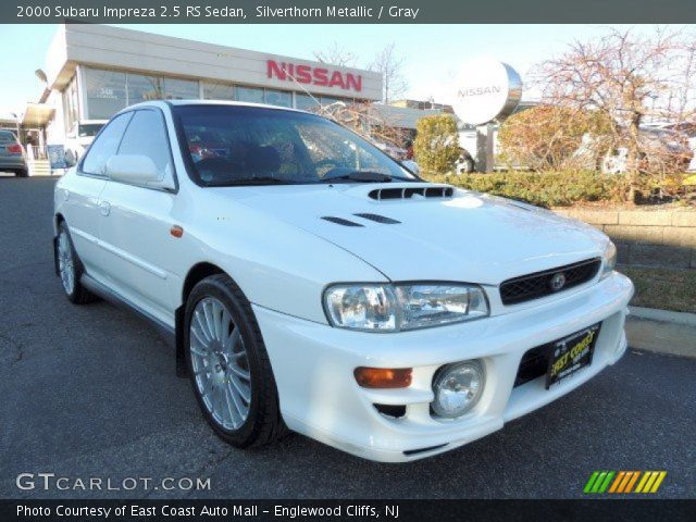 silverthorn metallic 2000 subaru impreza 2 5 rs sedan gray interior vehicle. Black Bedroom Furniture Sets. Home Design Ideas