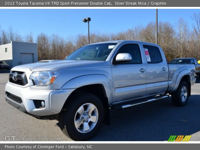 silver streak mica 2013 toyota tacoma v6 trd sport prerunner double cab graphite interior. Black Bedroom Furniture Sets. Home Design Ideas