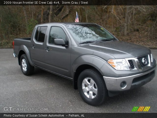 storm gray 2009 nissan frontier se crew cab 4x4 steel interior vehicle. Black Bedroom Furniture Sets. Home Design Ideas