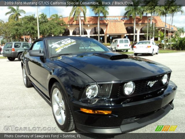 black 2009 ford mustang gt cs california special convertible black dove interior gtcarlot. Black Bedroom Furniture Sets. Home Design Ideas