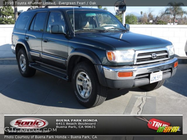 Evergreen Pearl 1998 Toyota 4runner Limited Oak Interior Vehicle Archive