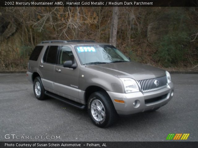 2002 Mercury Mountaineer AWD in Harvest Gold Metallic