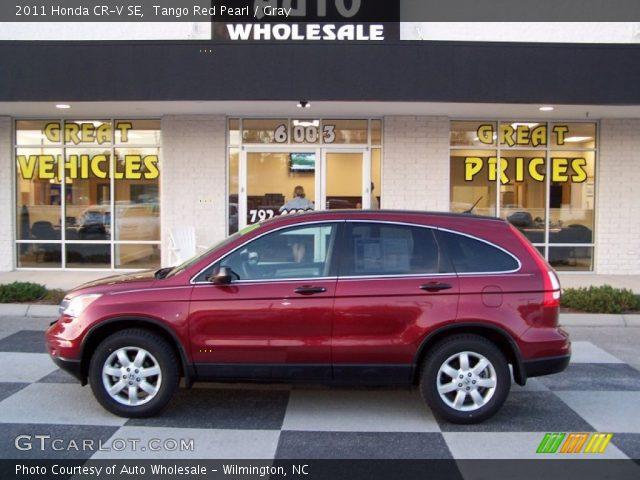 Tango Red Pearl 2011 Honda Cr V Se Gray Interior