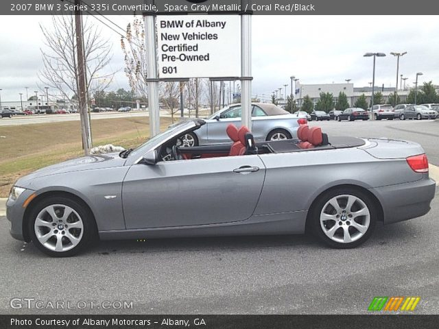 space gray metallic 2007 bmw 3 series 335i convertible coral red black interior gtcarlot. Black Bedroom Furniture Sets. Home Design Ideas