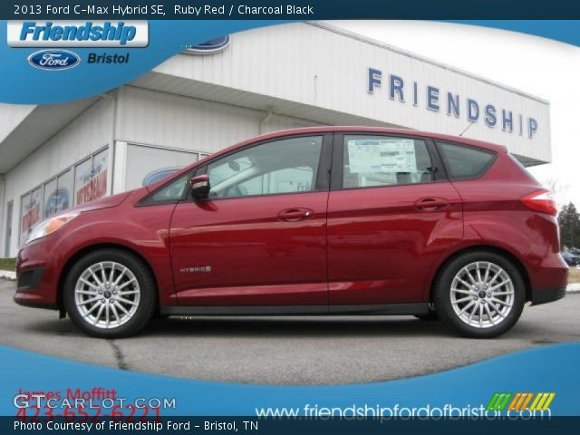 ruby red 2013 ford c max hybrid se charcoal black interior vehicle archive. Black Bedroom Furniture Sets. Home Design Ideas