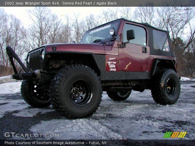 sienna red pearl 2002 jeep wrangler sport 4x4 agate. Black Bedroom Furniture Sets. Home Design Ideas
