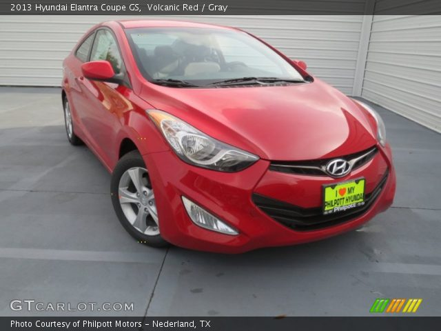 volcanic red 2013 hyundai elantra coupe gs gray interior vehicle archive. Black Bedroom Furniture Sets. Home Design Ideas