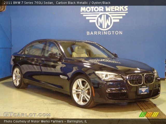 carbon black metallic 2011 bmw 7 series 760li sedan. Black Bedroom Furniture Sets. Home Design Ideas