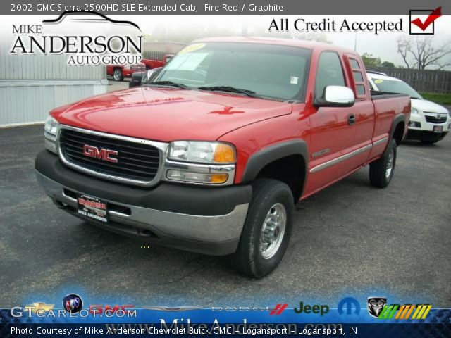 fire red 2002 gmc sierra 2500hd sle extended cab graphite interior vehicle. Black Bedroom Furniture Sets. Home Design Ideas