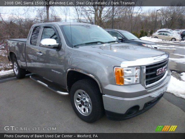 steel gray metallic 2008 gmc sierra 1500 sl extended cab. Black Bedroom Furniture Sets. Home Design Ideas