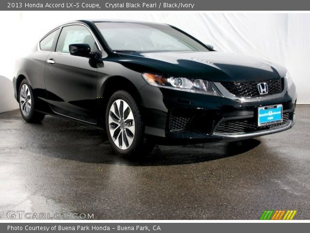 crystal black pearl 2013 honda accord lx s coupe black ivory interior. Black Bedroom Furniture Sets. Home Design Ideas