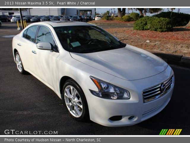 pearl white 2013 nissan maxima 3 5 sv charcoal interior vehicle archive. Black Bedroom Furniture Sets. Home Design Ideas