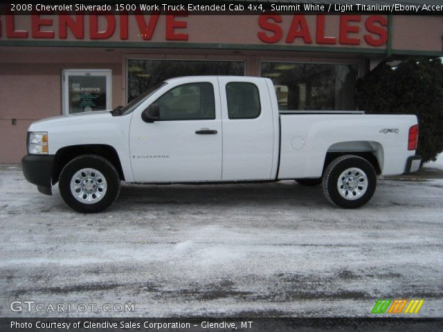 summit white 2008 chevrolet silverado 1500 work truck extended cab 4x4 light titanium ebony. Black Bedroom Furniture Sets. Home Design Ideas