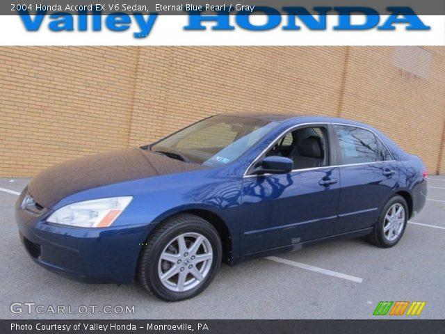 2004 Honda Accord EX V6 Sedan in Eternal Blue Pearl