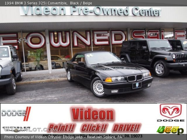 1994 BMW 3 Series 325i Convertible in Black