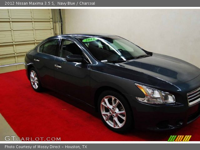 navy blue 2012 nissan maxima 3 5 s charcoal interior vehicle archive 75924640. Black Bedroom Furniture Sets. Home Design Ideas