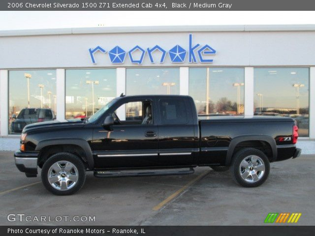 black 2006 chevrolet silverado 1500 z71 extended cab 4x4 medium gray interior. Black Bedroom Furniture Sets. Home Design Ideas