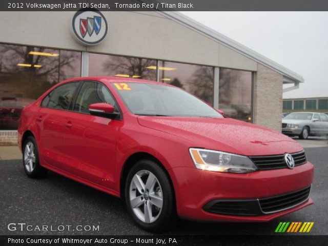 tornado red 2012 volkswagen jetta tdi sedan titan. Black Bedroom Furniture Sets. Home Design Ideas