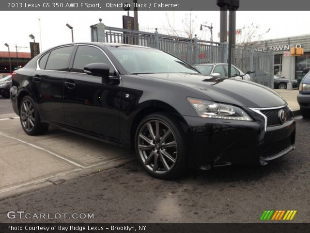 obsidian black 2013 lexus gs 350 awd f sport cabernet interior vehicle. Black Bedroom Furniture Sets. Home Design Ideas