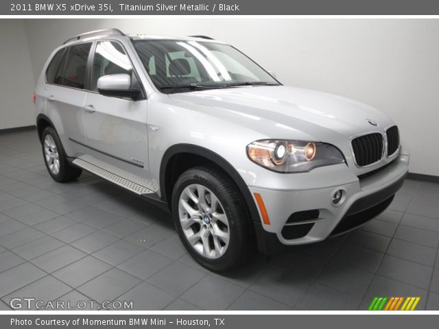titanium silver metallic 2011 bmw x5 xdrive 35i black interior vehicle. Black Bedroom Furniture Sets. Home Design Ideas