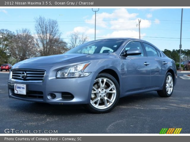 ocean gray 2012 nissan maxima 3 5 s charcoal interior vehicle archive 76018120. Black Bedroom Furniture Sets. Home Design Ideas