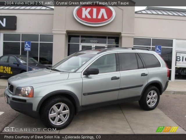 crystal green metallic 2004 volvo xc90 2 5t awd taupe light taupe interior. Black Bedroom Furniture Sets. Home Design Ideas