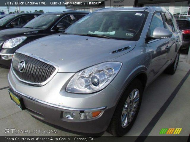 Quicksilver Metallic 2012 Buick Enclave Fwd Titanium Interior Vehicle