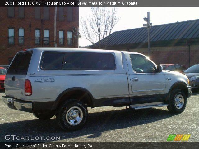 2001 Ford F150 XLT Regular Cab 4x4 in Silver Metallic
