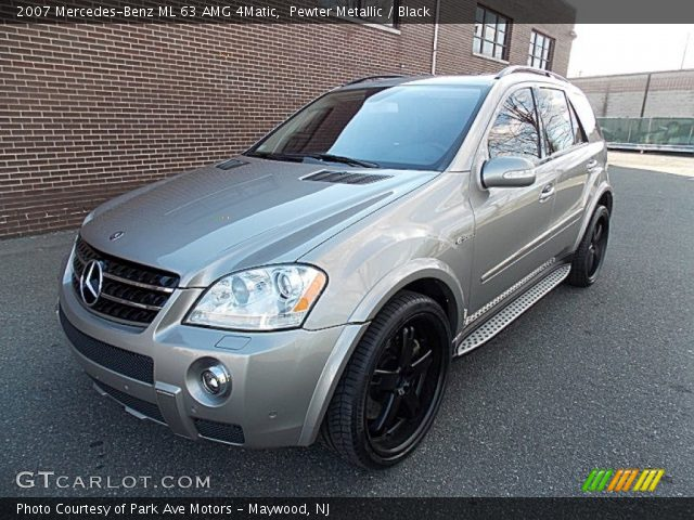 pewter metallic 2007 mercedes benz ml 63 amg 4matic black interior vehicle. Black Bedroom Furniture Sets. Home Design Ideas