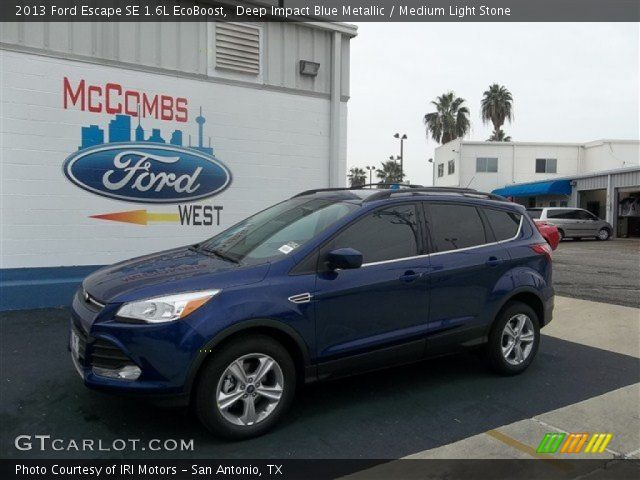 Deep impact blue metallic 2013 ford escape se 1 6l for G stone motors used cars