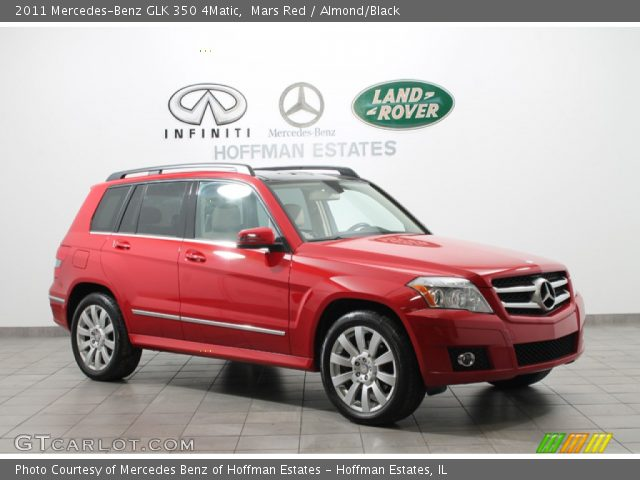 Mars Red 2011 Mercedes Benz Glk 350 4matic Almond