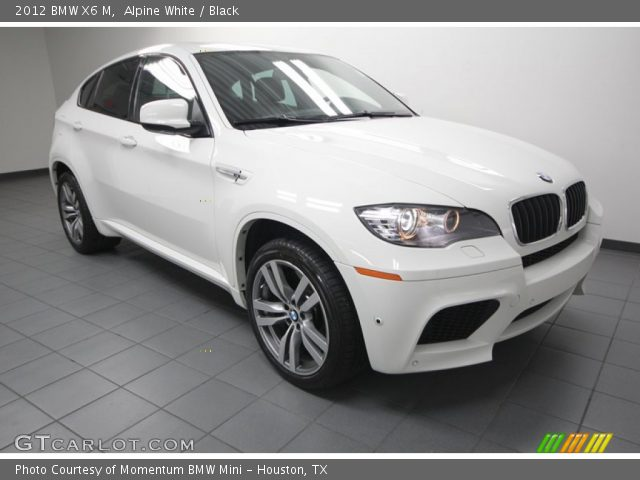 alpine white 2012 bmw x6 m black interior gtcarlot. Black Bedroom Furniture Sets. Home Design Ideas