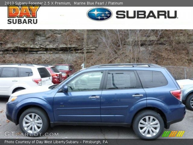 marine blue pearl 2013 subaru forester 2 5 x premium platinum interior. Black Bedroom Furniture Sets. Home Design Ideas