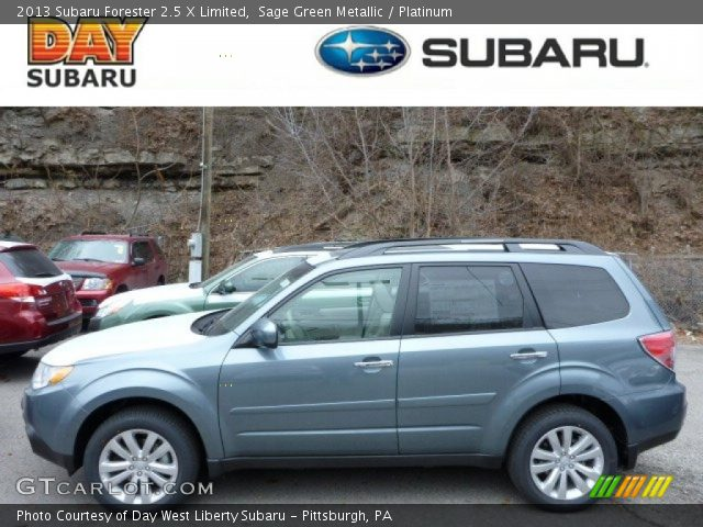 sage green metallic 2013 subaru forester 2 5 x limited platinum interior. Black Bedroom Furniture Sets. Home Design Ideas
