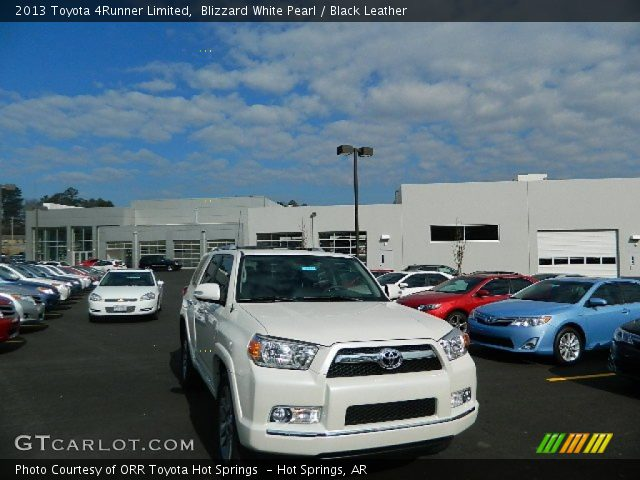 Blizzard White Pearl 2013 Toyota 4runner Limited Black Leather Interior
