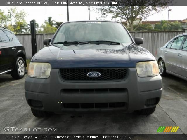 true blue metallic 2004 ford escape xls v6 medium dark. Black Bedroom Furniture Sets. Home Design Ideas