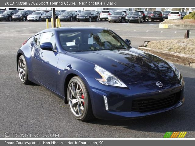 Midnight Blue 2013 Nissan 370z Sport Touring Coupe Black