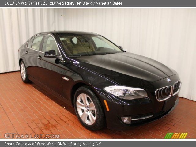 jet black 2013 bmw 5 series 528i xdrive sedan venetian beige interior. Black Bedroom Furniture Sets. Home Design Ideas