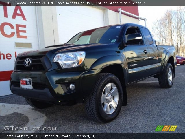 spruce green mica 2012 toyota tacoma v6 trd sport access cab 4x4 graphite interior. Black Bedroom Furniture Sets. Home Design Ideas