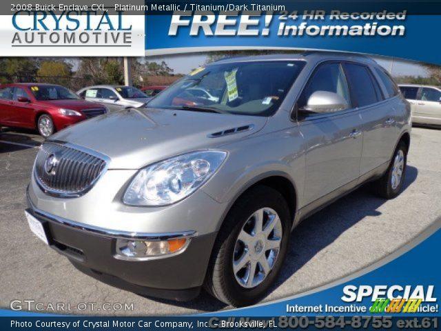 Platinum Metallic 2008 Buick Enclave Cxl Titanium Dark Titanium Interior