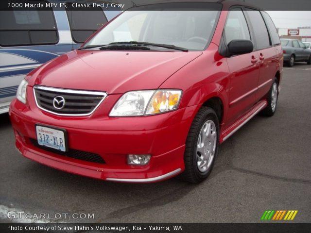 2000 Mazda MPV ES in Classic Red