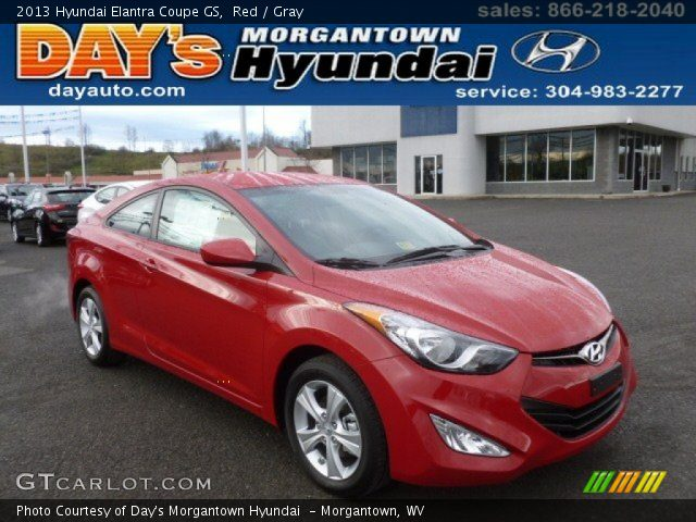 red 2013 hyundai elantra coupe gs gray interior vehicle archive 76434252. Black Bedroom Furniture Sets. Home Design Ideas