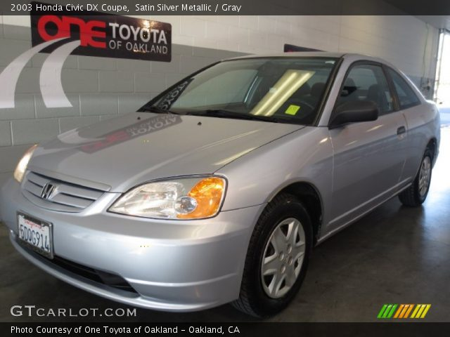 satin silver metallic 2003 honda civic dx coupe gray. Black Bedroom Furniture Sets. Home Design Ideas