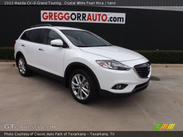 crystal white pearl mica 2013 mazda cx 9 grand touring sand interior. Black Bedroom Furniture Sets. Home Design Ideas