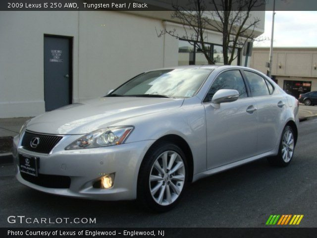 tungsten pearl 2009 lexus is 250 awd black interior vehicle archive 76224178. Black Bedroom Furniture Sets. Home Design Ideas
