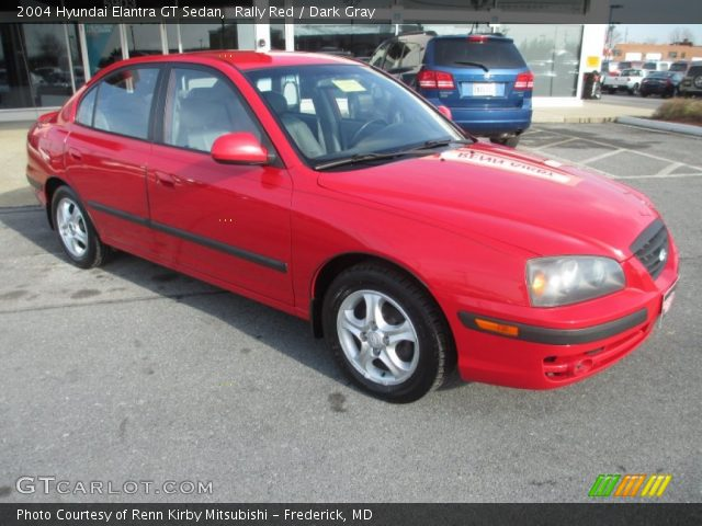 rally red 2004 hyundai elantra gt sedan dark gray. Black Bedroom Furniture Sets. Home Design Ideas